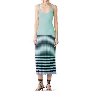 Jason Wu Striped Sweater Maxi Dress Large